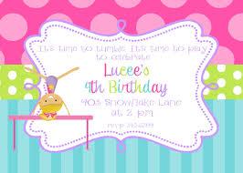 gymnastics birthday party invitations marialonghi com