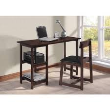 Black Desk And Chair Astoria Brown Modern Desk And Chair Set Free Shipping Today