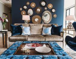 mirror cool down your design with blue velvet furniture awesome