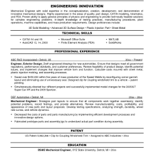 Sle Resume For Mechanical Engineer Mechanical Engineering Resume Usa S Lewesmr Cover Letter Exles