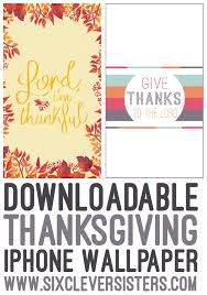 two free thanksgiving iphone wallpapers six clever
