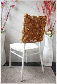 rosette chair covers online get cheap chair cover satin aliexpress alibaba