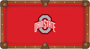 ohio state buckeyes pool table felt ncaa worsted billiard cloth