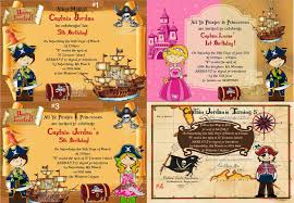pirate princess mermaid and fairy party invitations