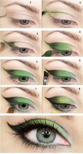 green eye makeup for small eyes you