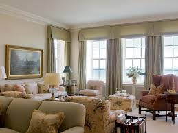 image of window treatment ideas for bay windows in living room