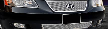 hyundai sonata 2008 parts 2008 hyundai sonata custom grilles billet mesh led chrome black