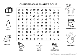 my learning in english game christmas alphabet soup