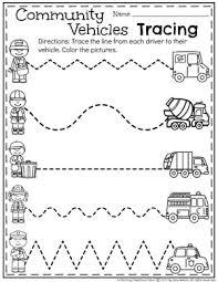 community helpers preschool theme preschool tracing worksheets