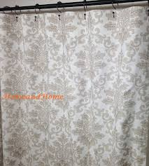 Wide Fabric Shower Curtain Fabric Shower Curtain Custom Cecilia Ecru Taupe By Homeandhome