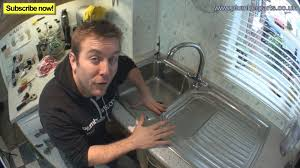 HOW TO REMOVE  INSTALL KITCHEN SINK Plumbing Tips YouTube - Fitting a kitchen sink