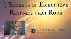 Characteristics Of A Good Resume Resume Tips 7 Characteristics Of A Great Executive Resume Youtube