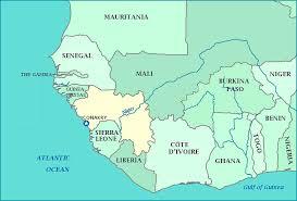 africa map senegal map of guinea