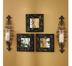 Candle Wall Sconces For Living Room Set Of Two Decorative Modern Black Metal Wall Sconce And Crackle