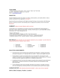 Resume Format Online by Objective Resume Examples