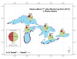 Map Of Michigan Lakes by Microplastics Pollution In The Great Lakes Ecosystem Summary Of