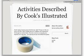 website of the day activities described by cook u0027s illustrated a