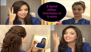 quick office hairstyles in 3 minutes hindi youtube