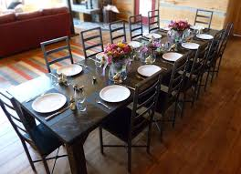 Custom Made Dining Room Tables by Handmade Iron U0026 Wood Dining Table And Chairs By Desiron Custom