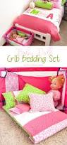 diy baby doll crib bedding set the crafting nook by titicrafty