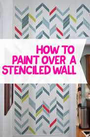 how to paint over a stenciled wall