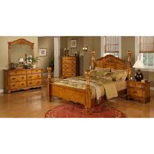 picket house vista warm pine 5 piece poster bedroom set walmart com
