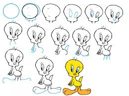 simple ways that teaches you how to draw tweety drawing step