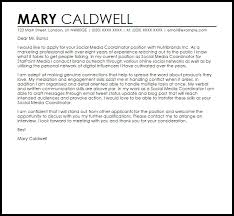 online marketing coordinator cover letter cover letter resumes