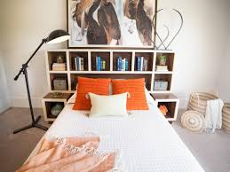 Building A Headboard How To Make A Headboard With Storage Hgtv