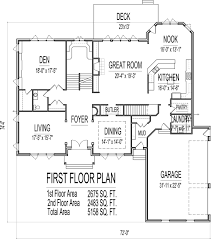 One Story House Plans With Basement by 5 Bedroom 2 Story 5000 Sq Ft House Floor Plans Stone And Brick