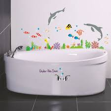 3d dolphins fish under the sea world wall sticker mural decal 3d dolphins fish under the sea world wall sticker mural decal decor removable