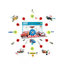 disney cars tick tock clock and wall stickers