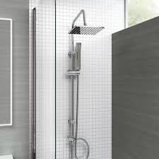 ibathuk modern waterfall bath filler mixer tap with bathroom ibathuk modern chrome riser rail mixer square shower head kit for bath tap sp5106