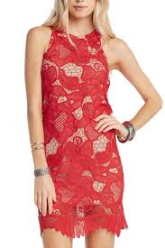 soprano red lace overlay dress from florida by apricot lane st