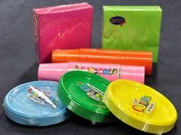 piatti e bicchieri di plastica colorati vendita di coordinati per la tavola di plastica e cartoncino