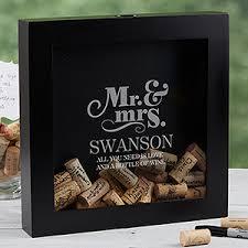 wine wedding gift personalized wedding wine cork shadow box the happy