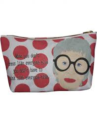 iris apfel makeup bag by kayci wheatley unique gifts shop