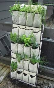 diy vertical herb garden projects for small space gardens vertical herb gardens shoes