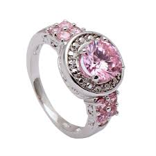 Pink Camo Wedding Rings by Wedding Rings Camo Wedding Ring With Pink Stone Pink Camo