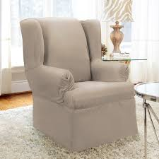 furniture shag area rug and wingback chair using slipcover with