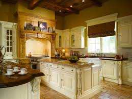 Kitchen With Tile Backsplash White Traditional Cottage Kitchen With Wood Countertop Kitchen