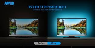 replacing led lights in tv amazon com amir tv led light strip 30 led tv backlight strip usb