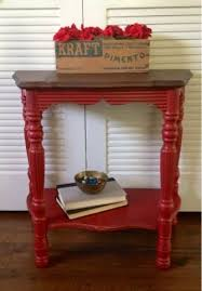 stained table top painted legs blue hydrangea furniture an itch to paint something red