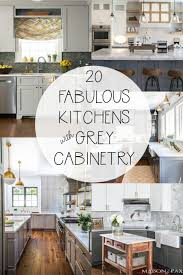 grey kitchen countertops with white cabinets 20 fabulous kitchens featuring grey kitchen cabinets the