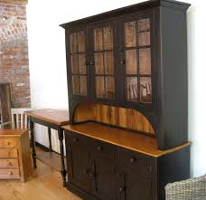 Hutch 3 3 Door Glass Hutch In Black Lake And Mountain Home
