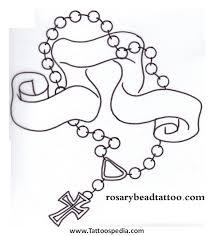 cross tattoos rosary beads 5