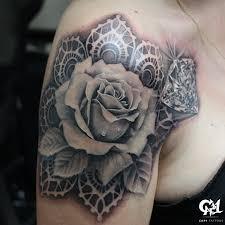 dark age tattoo studio tattoos flower rose realistic rose