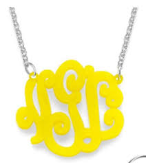 Custom Monogram Necklace Custom Monogram Jewelry