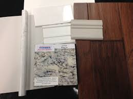 Two Toned Kitchen Cabinets by Kitchen White Ice Granite Counters Tiles And Two Tone Cabinet