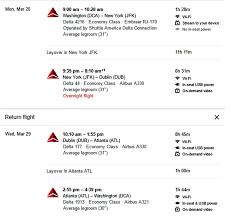 Washington travel click images Washington dc to dublin 315 roundtrip delta air lines mileage jpg